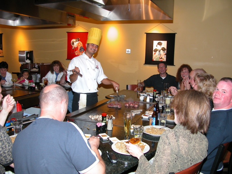 TownMagic - Chef at Wasabi Japanese Steakhouse Knoxville 2
